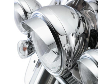 Headlamp visor chrome