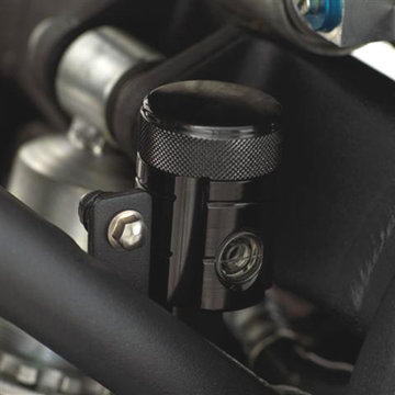 Anodised brake reservoir rear